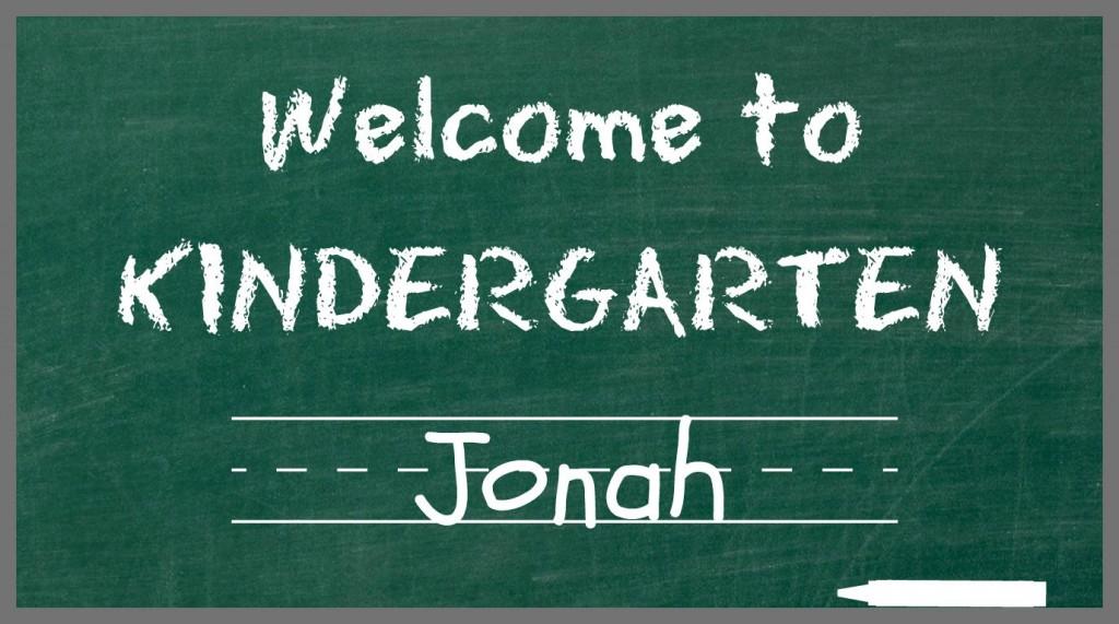 Kindergarten Jonah