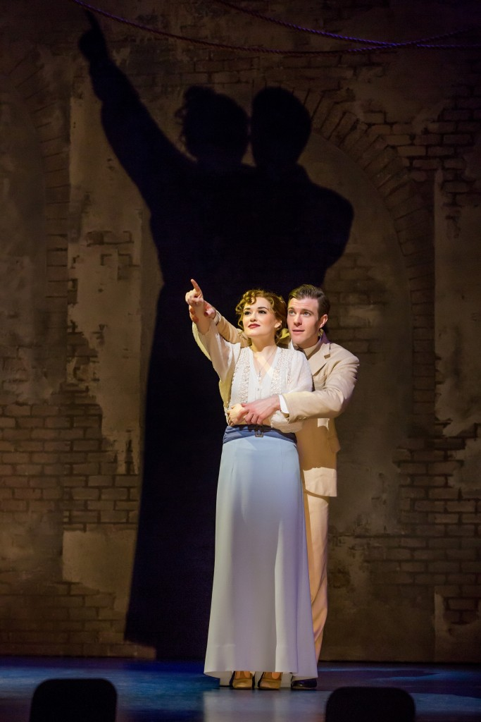 Christine Dwyer as Sylvia Llewelyn Davies and Billy Harrigan Tighe as JM Barrie in Finding Neverland Credit Jeremy Daniel IMG_3083